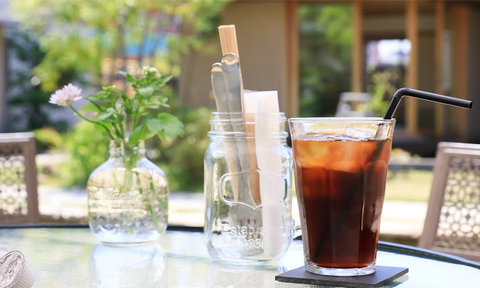 岐阜のカフェ、Hidamari cafe(ひだまりカフェ)のテラス席写真
